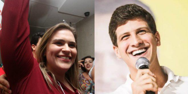 Marília Arraes e João Campos disputam pelo título de deputado federal mais votado de Pernambuco