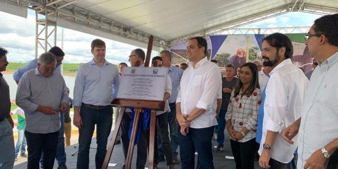 Diogo Moraes comemora inauguração da 1ª etapa da Adutora do Moxotó e da 1ª etapa do Sistema Adutor do Agreste
