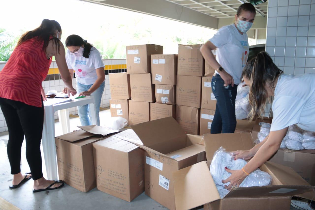 Regionais de Goiana e Palmares recebem doação de 263 mil máscaras