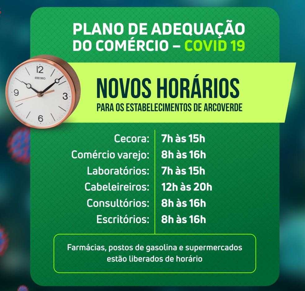 Prefeitura de Arcoverde determina novos horários para estabelecimentos