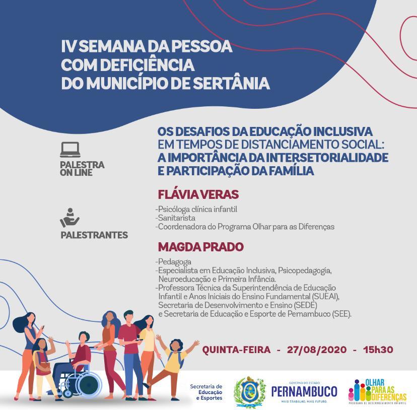 Sertânia debate a educação inclusiva