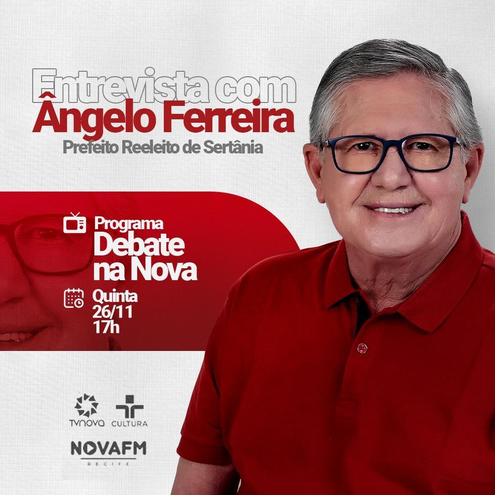 Ângelo Ferreira participará de Programa na TV Nova, afiliada da TV Cultura