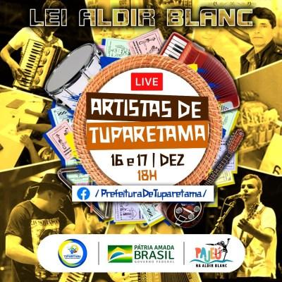 Bom exemplo: Tuparetama promove live musical com artistas contemplados pela Lei Aldir Blanc