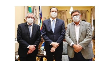 Ângelo Ferreira e Adelmo Moura cumprem agenda com Paulo Câmara