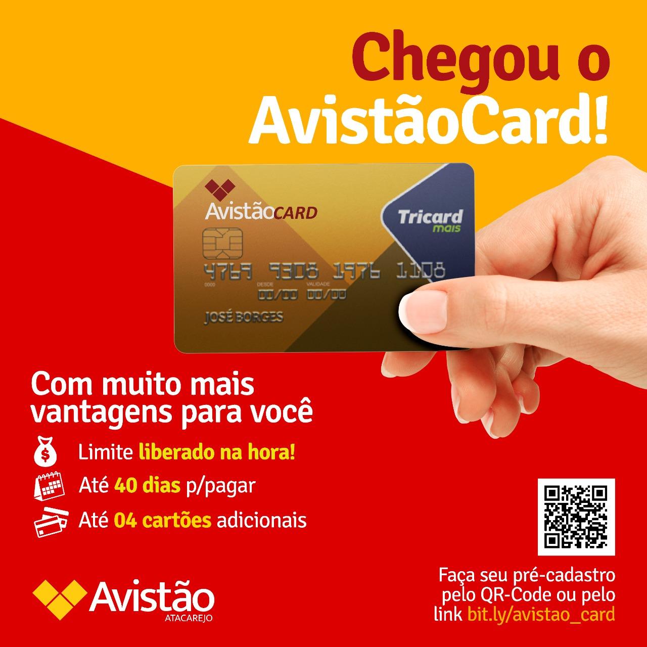 Chegou o Cartão de Crédito do Avistão