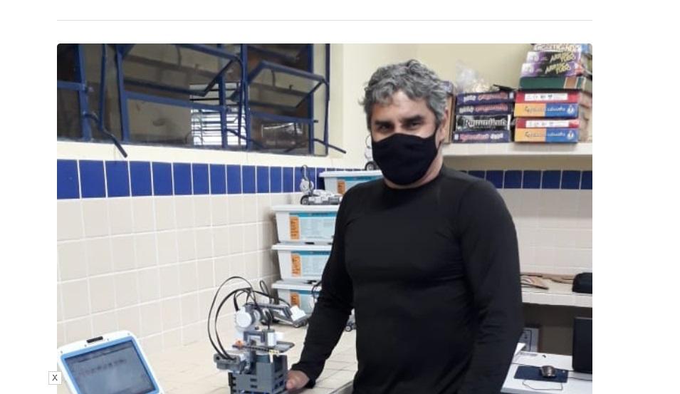 Professor cria robô capaz de ajudar no combate à Covid-19 no Sertão do Estado