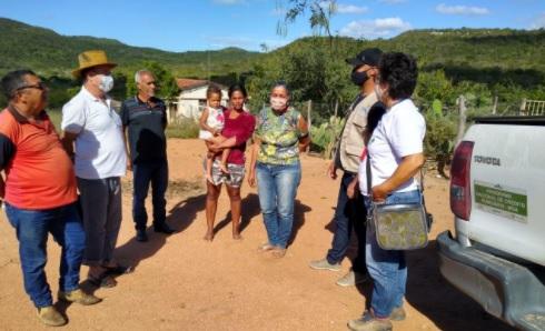 Iterpe realiza vistoria social e acompanhamento técnico na zona rural de Arcoverde