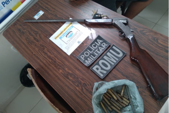 Arma e munição são apreendidas em Sertânia