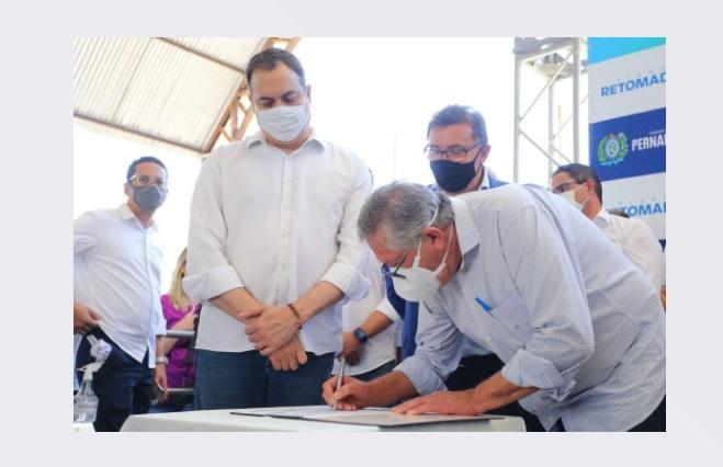 Paulo Câmara assina Ordem de Serviço para instalação da Central de Oportunidades de Pernambuco em Sertânia