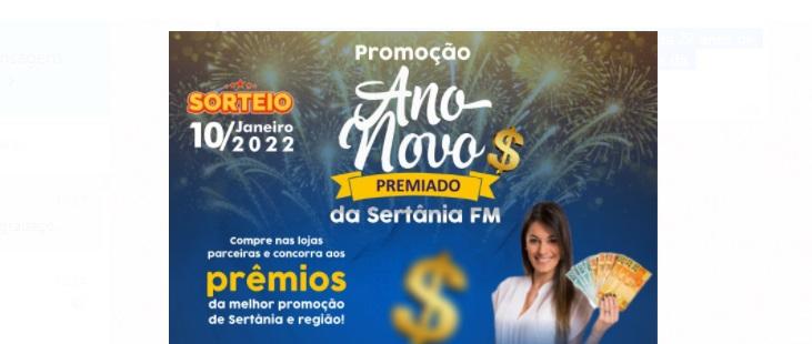 Sertânia FM lança mais uma vez a promoção Ano Novo Premiado, com sorteios em dinheiro